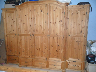 wegen umzug abzugeben ein komplettes schlafzimmer aus naturholz kiefer. Black Bedroom Furniture Sets. Home Design Ideas